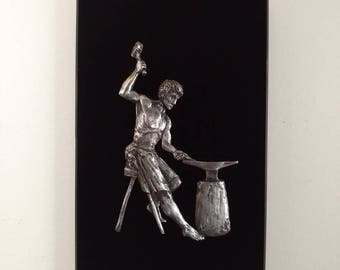 The Smith - Bas-relief pewter