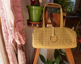 retro wool handbag