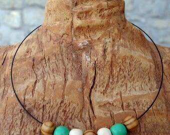 Choker wooden beads