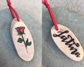 Latina|Latina Power|Flower| Wood Burned Keychain SET/ Double-Sided