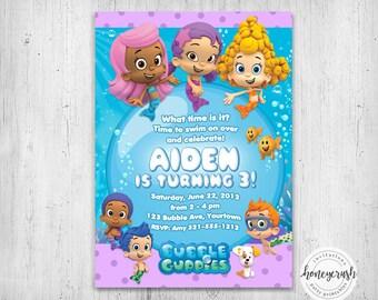 Bubble Guppies Birthday Invitation - Printable Digital File