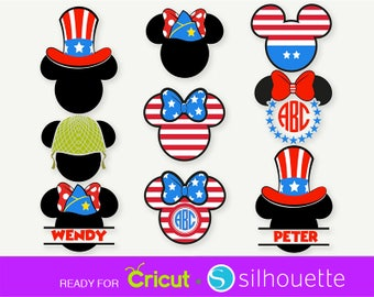 MICKEY MOUSE SVG Patriot svg Minnie Mouse svg Independence day Mickey Disney Veteran svg