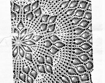 PDF Crochet pattern, Pineapple Cicular Tablecloth
