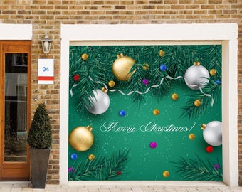 Christmas Garage Door Cover Christmas Door Decorations Outdoor Holiday Decor  Merry Christmas Sign
