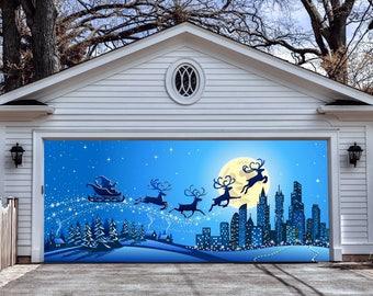 christmas wall art christmas double garage door cover christmas garage door murals outdoor