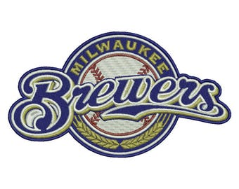 Milwaukee Brewers Embroidery Design - 5 SIZES