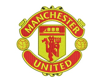 Manchester United Embroidery Design - 2 SIZES