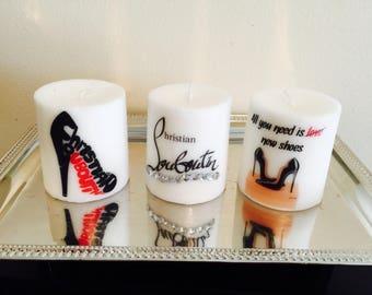 Louboutin candles set of 3!