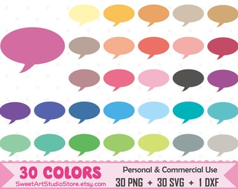 Oval Thought Cloud Clipart, , Speech Bubble, Speech Cloud, Text Bubble planner SVG Silhouette Cricut Cut File Commercial Use (Png Svg Dxf)