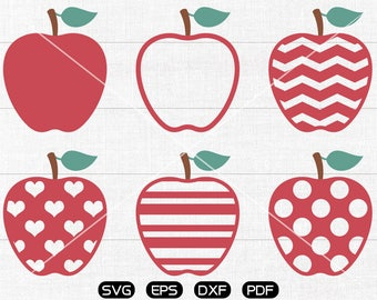 Apple svg, Apple Clipart, cricut, silhouette cut files commercial use