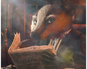 "Old Badger - Original Photographic Illustration. Limited Edition 16"" x 12"", Photographic Print. The Wind In The Willows. Kenneth Grahame."