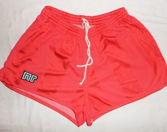 ENNERRE Rare Vintage 80s Excellent UNWORN Football Shorts Size 3 - S ,Red