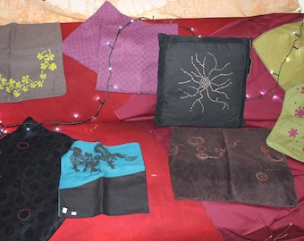 Cushion covers - assorted colors - various sizes