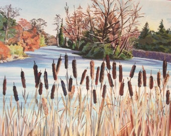 The lake at Kew Gardens in winter