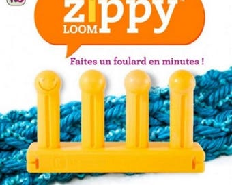 Zippy Loom made scarf in 15 minutes