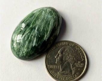 35.75x22.70mm,Ovel Shape Seraphinite  Russian Cabochon /Attractive  Seraphinite /wire wrap stone/Super Shiny/Pendant Cabochon/Semi Precious