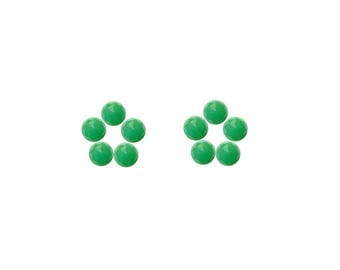 Chrysoprase Round Rose Cut Faceted Cabochons 3x3, 4x4, 5x5, 6x6 mm 100% Natural/Non-Heated/Non-Treated Gemstones For Designer Jewelry
