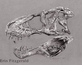 "The Tyrannosaurus rex ""Tristan"" large print"