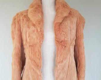 Vintage rabbit fur jacket