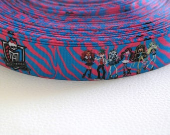Monster High 25 mm Ribbon grosgrain Draculaura, Clawdeen, Lagoona...