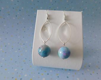 beautiful dangling earrings beads
