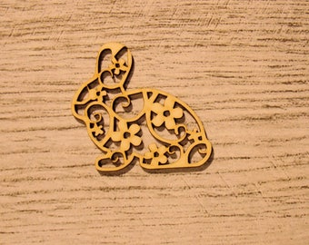 Engraved rabbit 1202 embellishment wooden creations