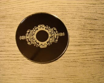 Coaster mirror 1207 embellishment wooden creations