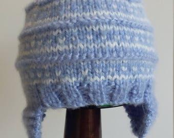 Blue Fair Isle Baby Hat