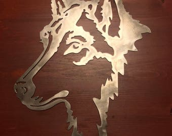 Detailed Wolf Head