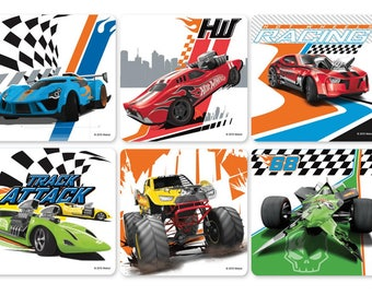 "25 Hot Wheels Cars Stickers, 2.5"" x 2.5"""