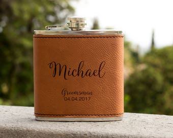 Personalized Flask, Wedding Flask, Groomsman Flask, Gift for wedding, Gifts for him, birthday gift, best man gift, Hip Flask