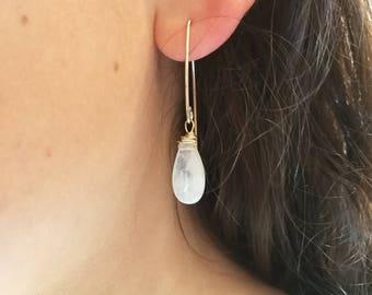 Earrings Moonstone 14 k gold filled