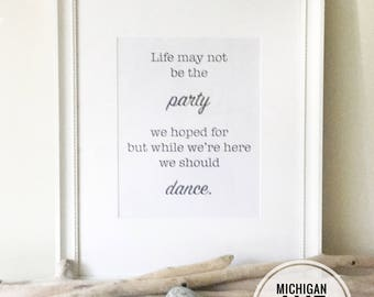 Downloadable print, Black and White, Female Inspirational Quote, Inspirational Quotes, Wall art, Party