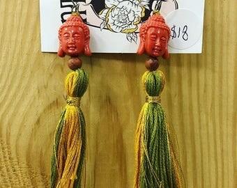 Buddhaful Red Head Earrings