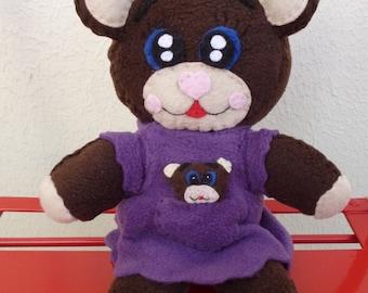 Lilac Mama bear