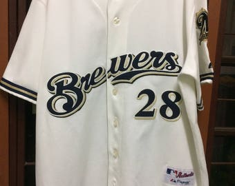 Milwaukee Brewers Jersey Prince Fielder,Majestic Size 48
