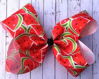 Watermelon Large JoJo Style Hair Bow