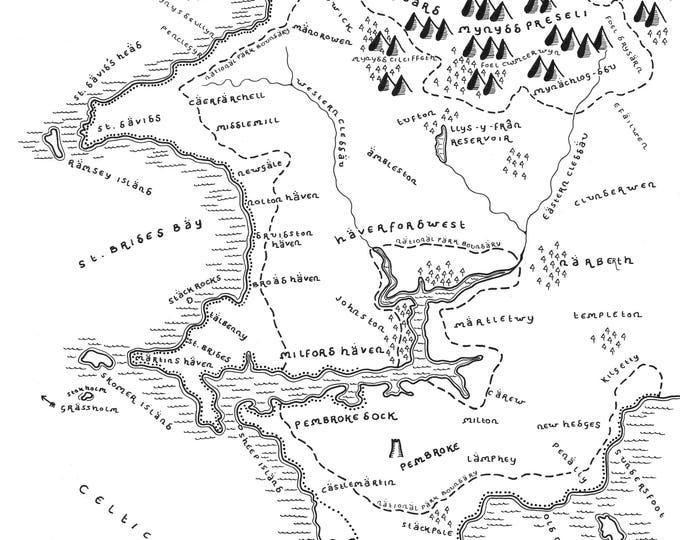 Pembrokeshire Coast National Park - Giclée Print