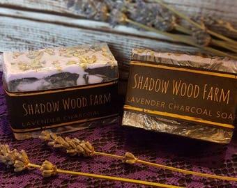 Lavender Charcoal Goat Milk Soap