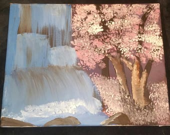Cherry Blossoms by the falls