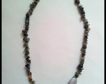 Unakite necklace and musk agate