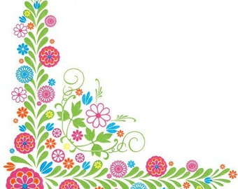 234 - paper flower towel