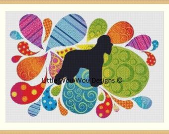 Irish Water Spaniel Dog Premium Cross Stitch
