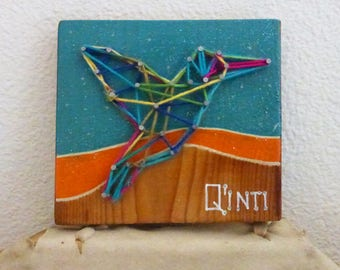 Q'inti - Hummingbird - String Art - Shamanic Collection