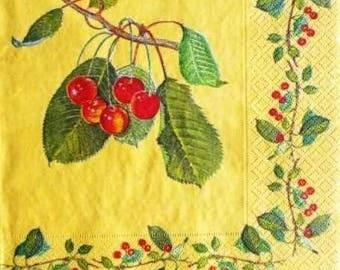 Cherries, cherry #AL017 Branches paper TOWEL