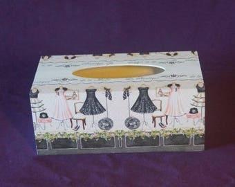 White fashion Boutique tissue box