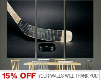 Hockey Stick Canvas, Hockey Canvas, Hockey Stick, Hockey Print, Stick Canvas, Hockey Print Art, Hockey Wall Art, Hockey Stick Print, Hockey