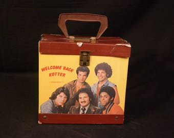 Welcome Back Kotter!-45 RPM Record Carrier-Vinyl Carrying Case with Plastic Handle-Sweathogs- John Travolta- Horshack