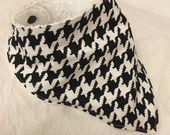 Bandana Drool Bib Houndstooth One of a kind ONLY 1 AVAILABLE!