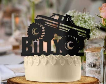 Personalized Monster Truck Off Road Cake Topper